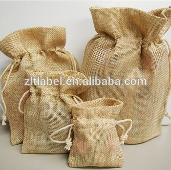 Custom logo print organic jute bags jewelry pouch jute bag wholesale