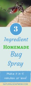 Learn how to make DIY Homemade all natural Bug Spray for kids the easy way! You need the best DIY Bug Spray recipe using Essential oils. It's so simple with only 3 ingredients. DIY Bug spray is an effective mosquito repellent and tick repellent for your your kids. @naturalsoapmom.com #bugspray #bugsprays #insects #mosquitos #ticks #healthykids #kidsafety