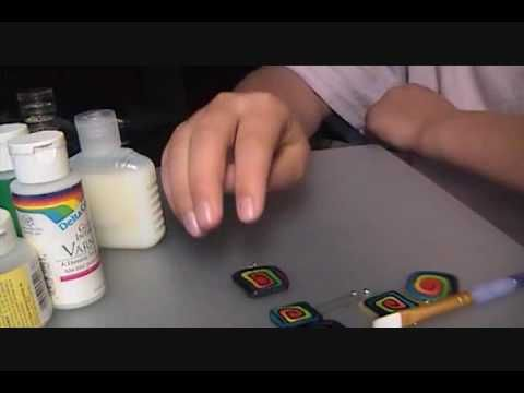 Video: How to gloss your polymer clay jewelry #Polymer #Clay #Tutorials
