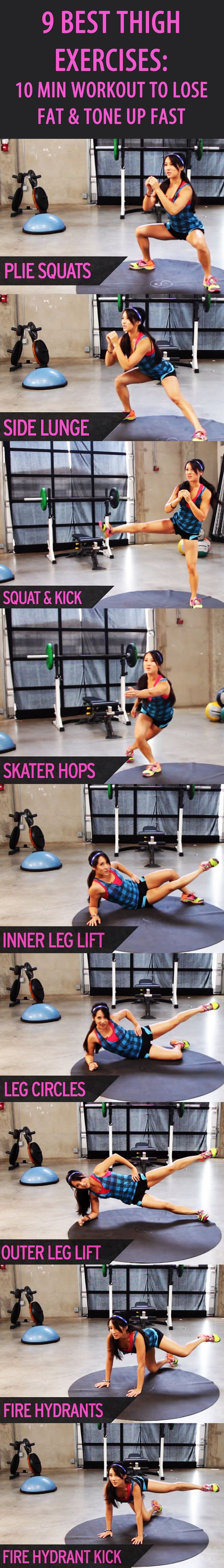 9 BEST THIGH EXERCISES: Our favorite fitness trainer Kelsey Lee: