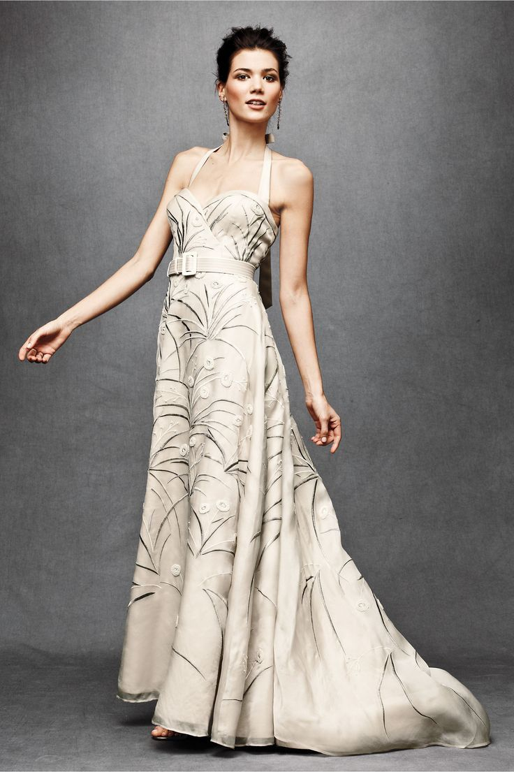 Trumpeted Pavot Gown From BHLDN Bodice Wedding DressCotton DressesUsed