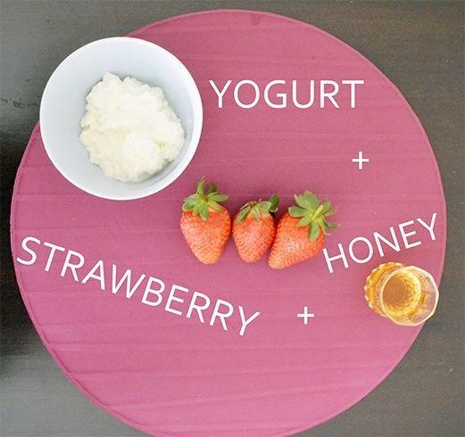 Yogurt and Strawberry Face Mask