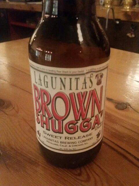 Lagunitas Brown Shugga 9% alcohol 100% cough syrup. Nothing like a honey brown ale. T&T Rating: Tarnished  #sweetrelease #lagunitasbrewingcompany #WineandBeerYaysandNays #beerreview #WestPhilly