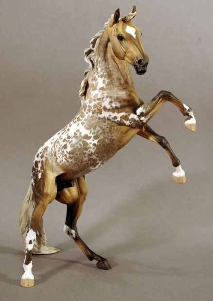 """My """"Vata"""" resin, sculpted by Lynn Fraley and painted to a sooty palomino semi-leopard appaloosa by Tara Louiselle, proudly owned by Dream Walker Stables"""