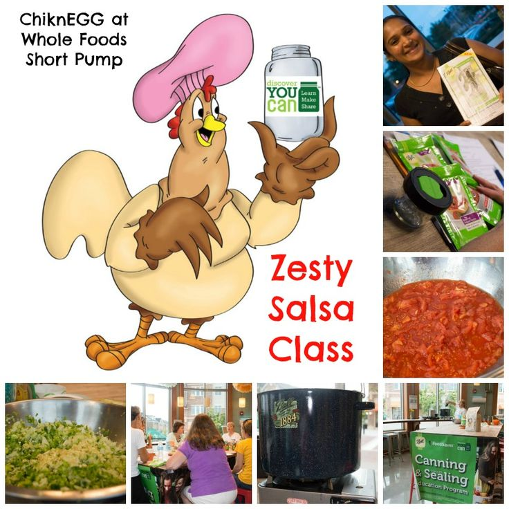 ChiknEGG Productions sharing Ball® food preservation knowledge during our Zesty Salsa Class at Whole Foods Market Short Pump.  Thanks to The Local Agrarian!  #DiscoverYouCan!