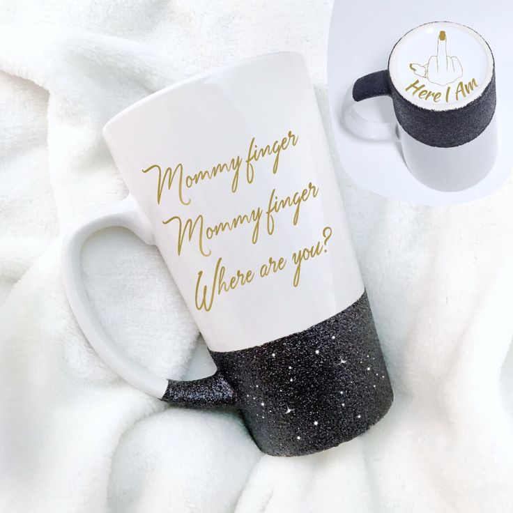 Mommy Finger Where Are You - Funny Mug - Adult Humor Coffee Cup - Nursery Rhyme Quote - Middle Finger Mug - Finger Family - Daddy Finger - pinned by pin4etsy.com