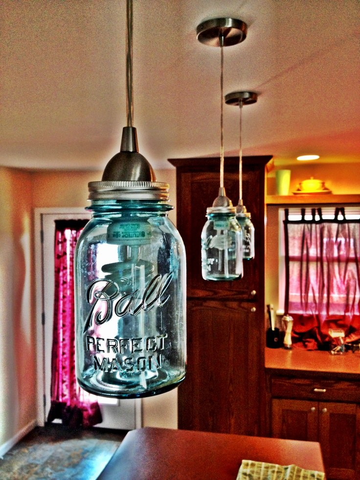 17 best images about my edison bulb obsession on pinterest for Hanging lights made from mason jars