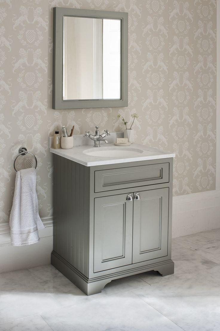 Dark Olive Freestanding 65 Vanity Unit with doors http://www.burlingtonbathrooms.com/Products/ProductDetail?prodId=92575&name=Freestanding%2065%20Vanity%20Unit%20with%20doors%20-%20Dark%20Olive%20and%20Minerva%20white%20worktop%20with%20integrated%20white%20basin%20