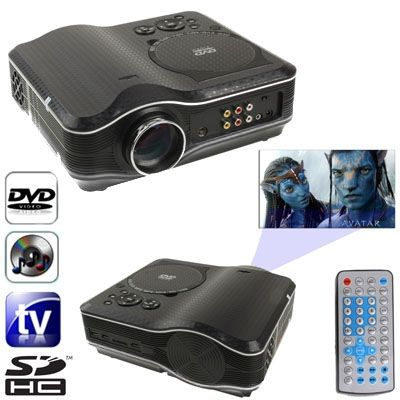 [$130.00] Portable DVD Projector with TV Receiver Function (PAL / NTSC / SECAM), AV IN / OUT and Game Function, Support SD / MMC Card / USB Flash Disk