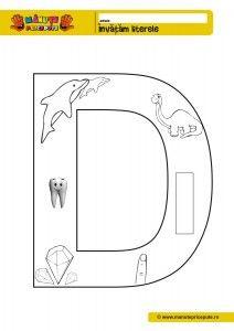 D - 010 - Litere de tipar - fise de lucru
