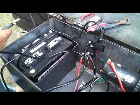 Placing a winch on a car hauling trailer - YouTube