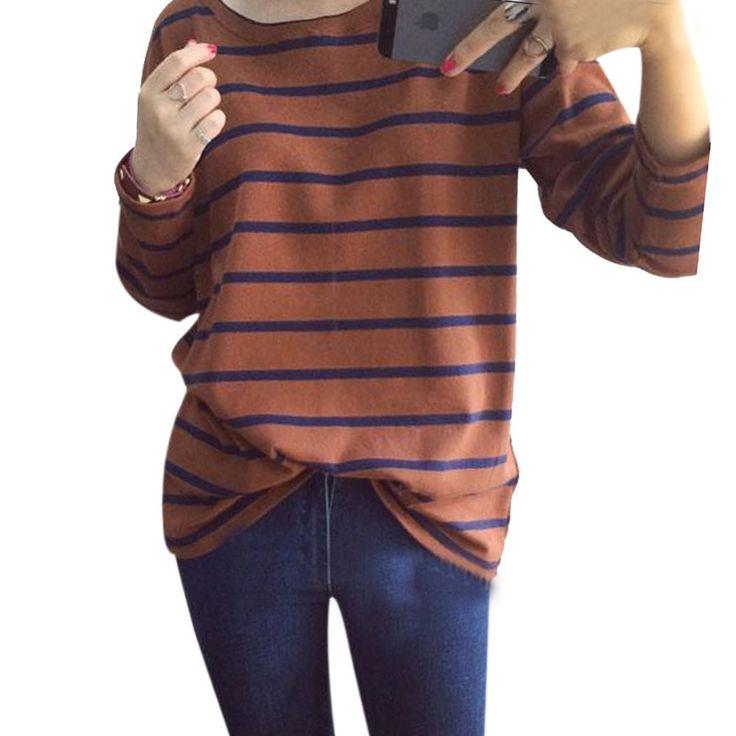 2017 Autumn Fashion Hoody Stripes Hoodies for Women Casual Sweatshirts Navy Black White Striped Sweatshirt High Quality Hoodie