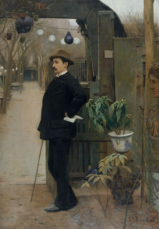 Santiago Rusiñol - 1861-1931 - portrait of Miquel Utrillo (1862-1934)
