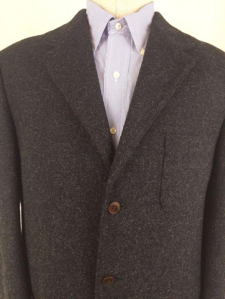 J Crew Men's Wool Blazer- XL- 3 Button Charcoal #JCREW #BasicCoat
