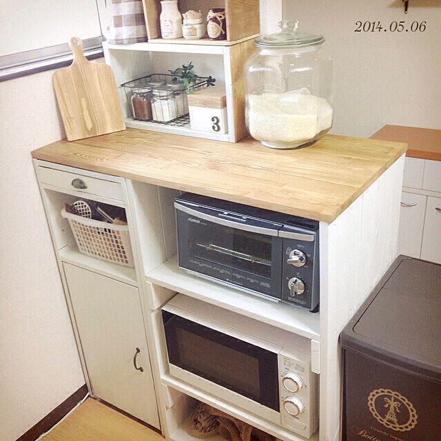 キッチン 使いやすさ重視 Diy Spf材 キッチンカウンター などの