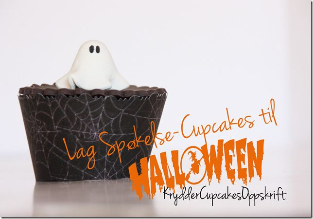 spøkelse cupcakes halloween kryddercupcakesoppskrift