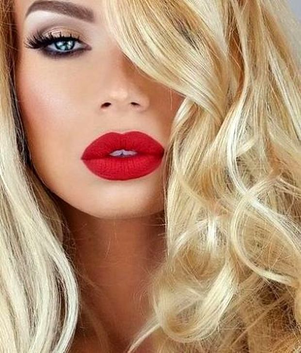 50 Pretty Makeup Ideas With Red Lipstick Red Lipstick Makeup