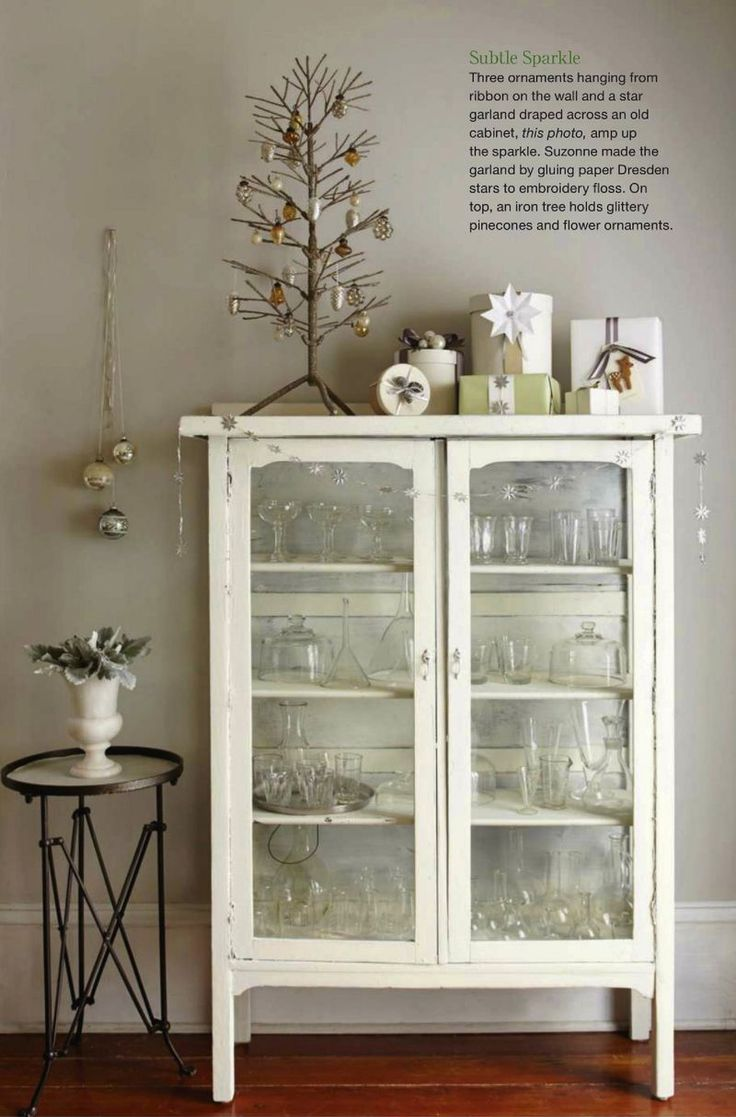 Love the wall color and the cream cabinet. Christmas Ideas 2013 | Suzonne Stirling