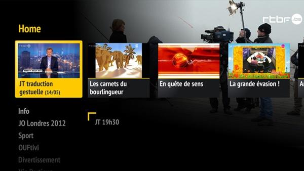 RTBF Samsung Smart TV app #iptv #smarttv