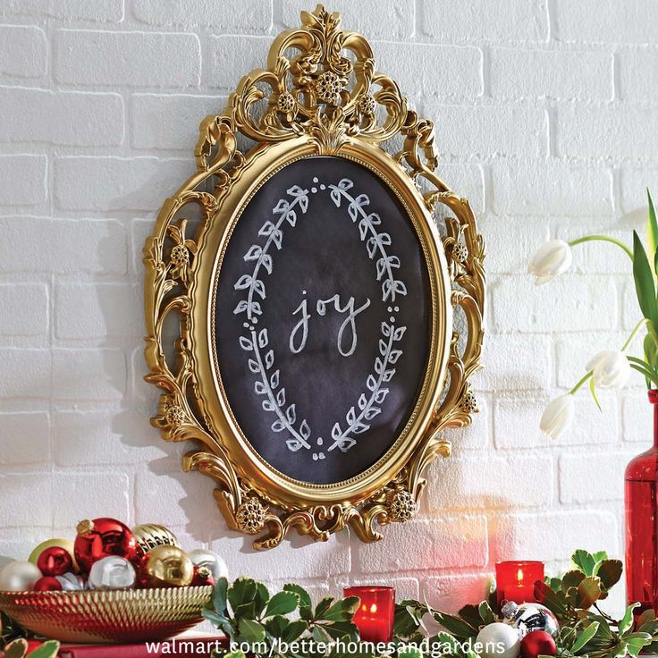 1000 images about holiday d cor made simple on pinterest for Better homes and gardens baroque wall mirror