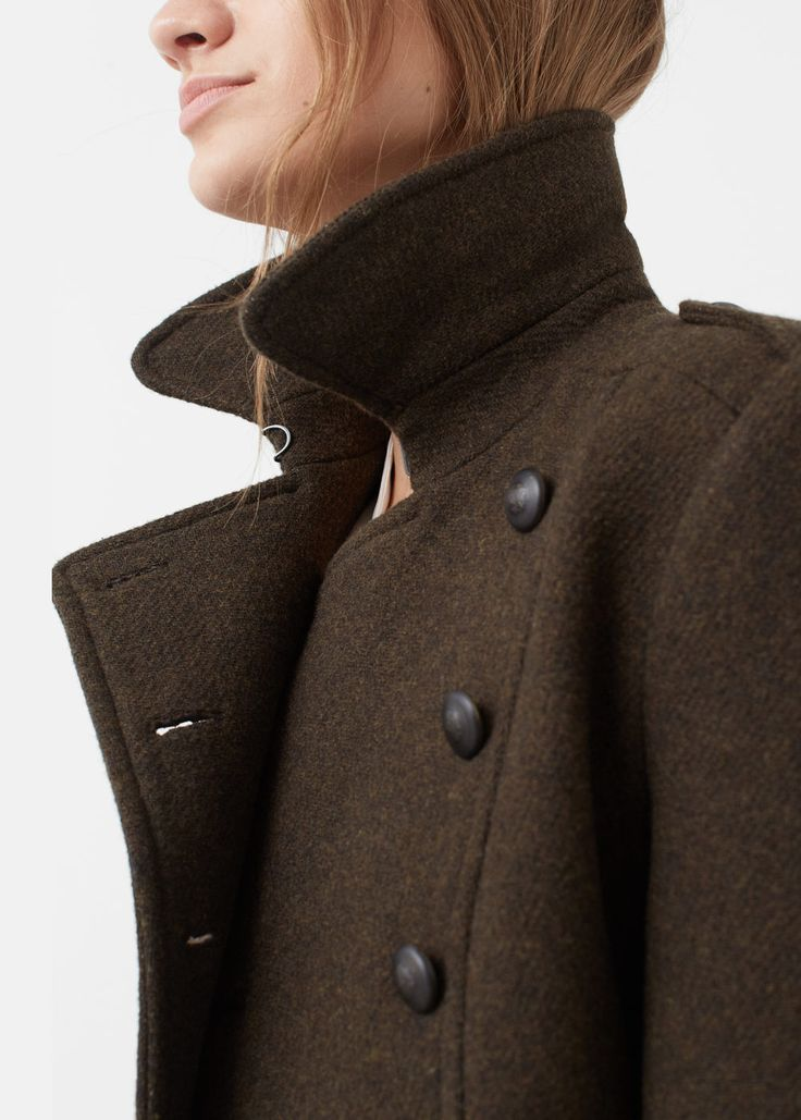 SHOP A/W 16: The perfect colour mix of brown and green makes this military style coat a stand out piece for me.