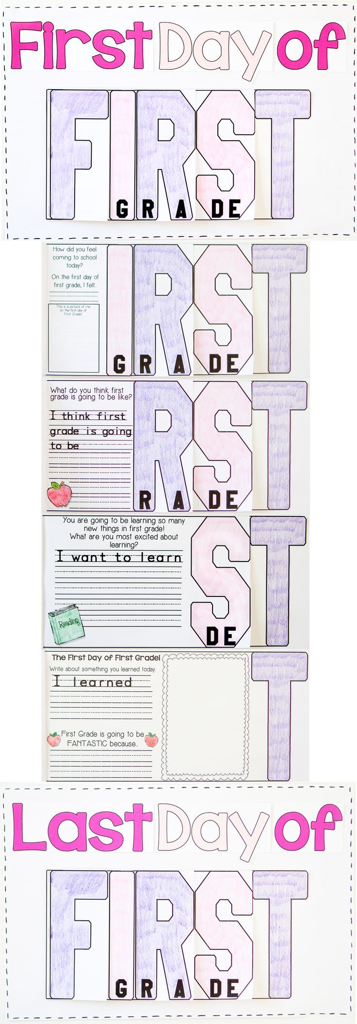 The Beginning and End of the Year Writing resource will be a wonderful keepsake for parents to see how their child has grown over the school year!