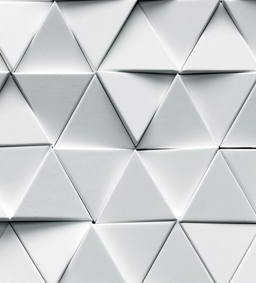 Details We Like Pattern Tiles Triamgle White At