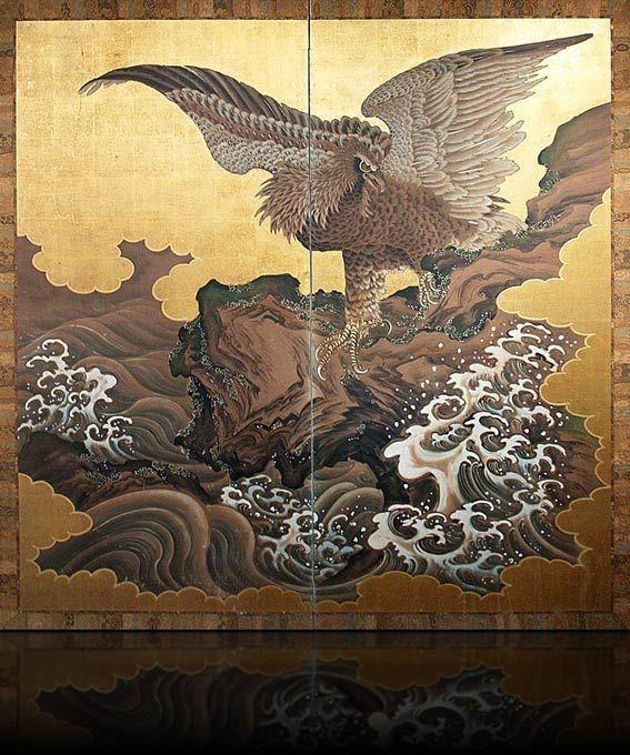 Japanese folding screen -byobu- 屏風