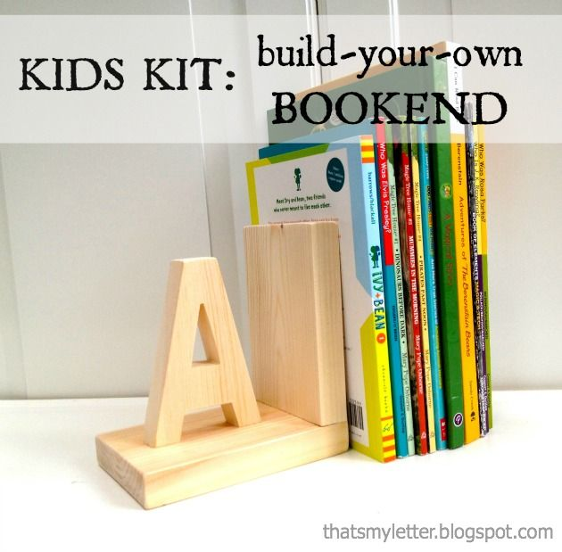 Kids Bookend Kit - GS Cadette Woodworking badge idea