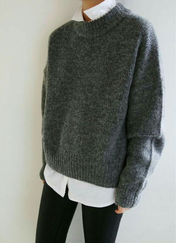 Love sweaters with blouses