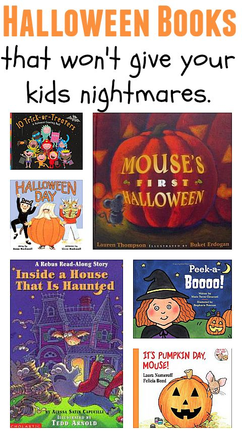 Halloween book list filled with Halloween books that are not scary.