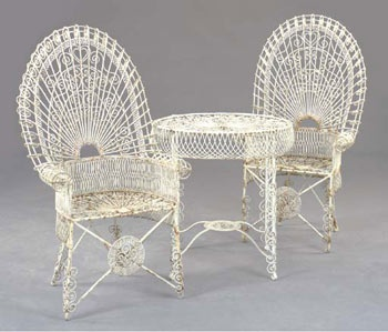 Early 20th century shabby chic garden furniture home - Garden furniture shabby chic ...