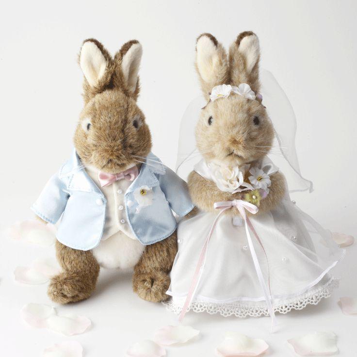 ウェディングピーターラビット(フラワーシャワー約100枚つき)(rabit_wedding) - ウェルカムドール・ウェディングドール通販シェリーマリエ
