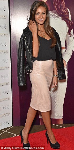 Masculine v feminine: Michelle Keegan showcases two sides of her style at the launch of her Lipsy collection in London