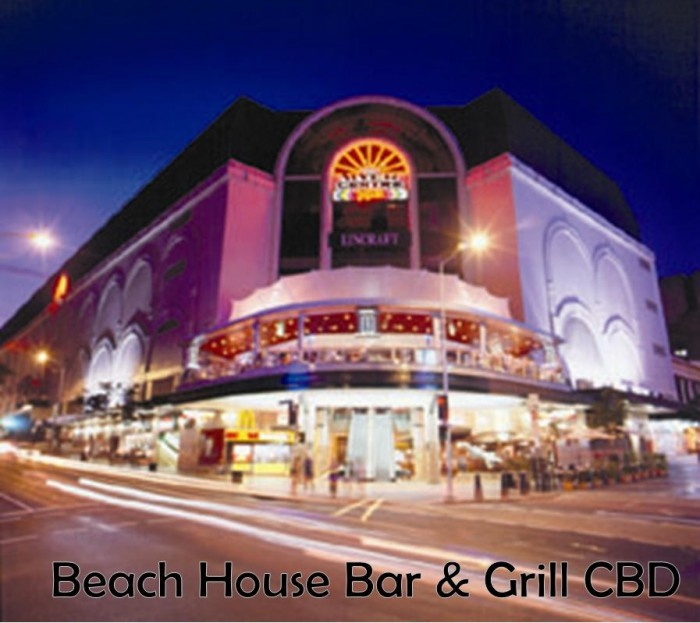 Beach House Bar & Grill, Brisbane - Steak Night Mondays, get a steak meal for only $9.90 (with drink purchase)