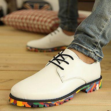 Cuero talón plano Confort Oxfords Zapatos de mujer (más colores) – CLP $ 14.505