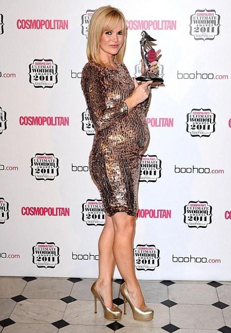 Amanda Holden stylish maternity