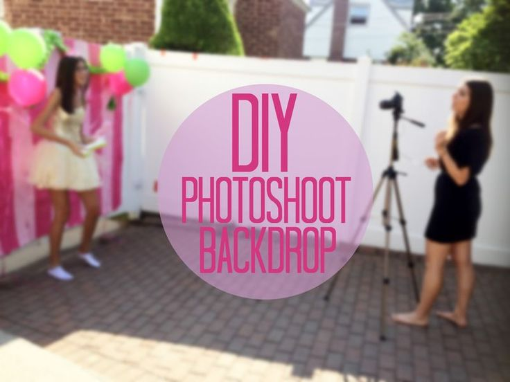 how to make a homemade backdrop stand