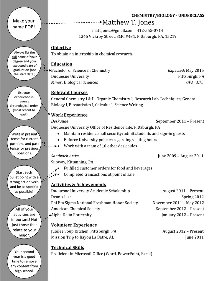 77 best Resume images on Pinterest Resume examples, Resume - biology student resume