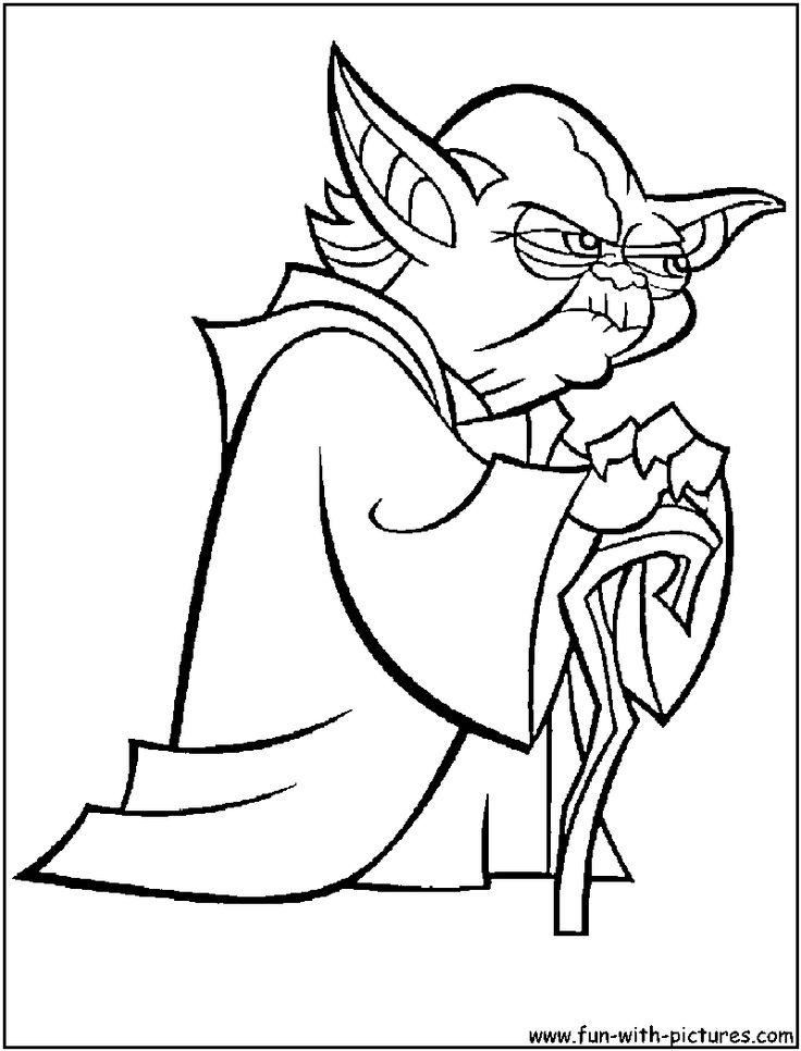 Yoda coloring page Stuff to Remember Pinterest