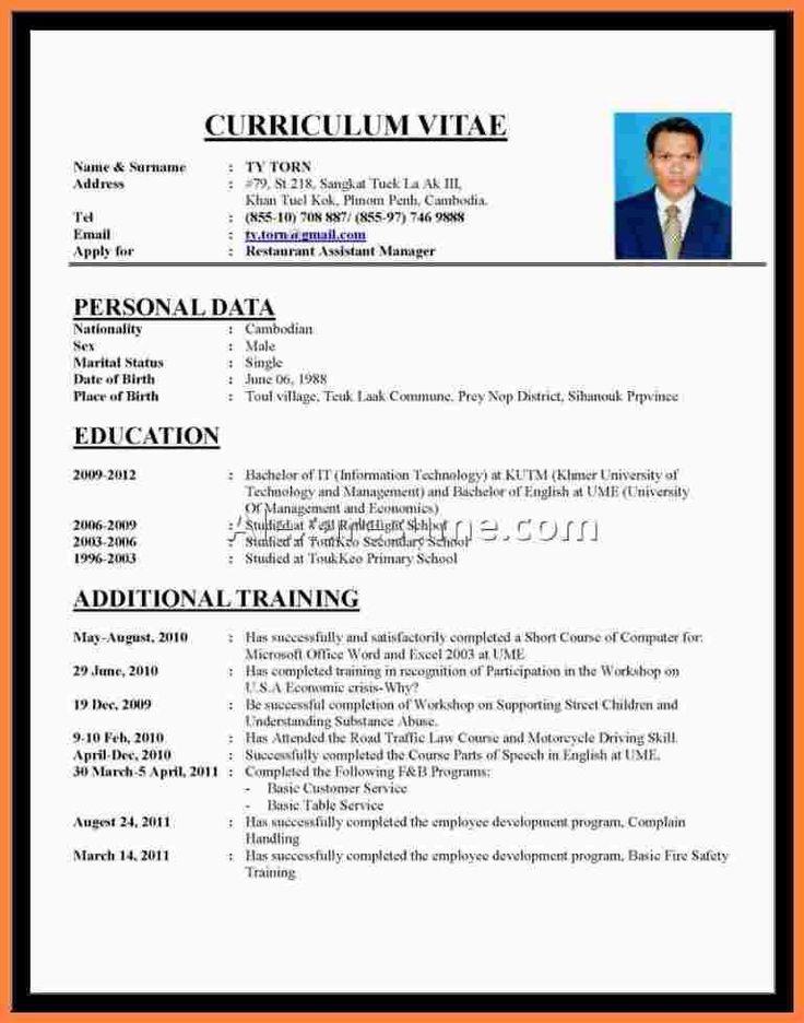 cv template bahasa indonesia    bahasa  cvtemplate