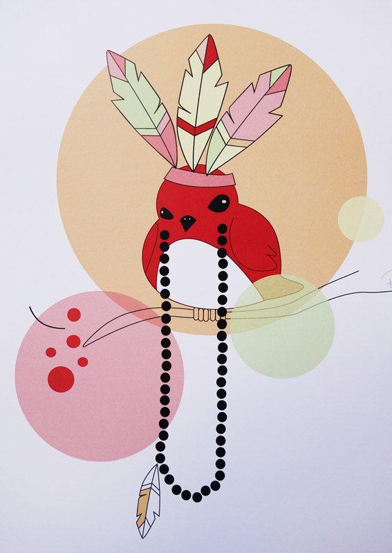 Big Feathers digital art illustration by Ramalamb