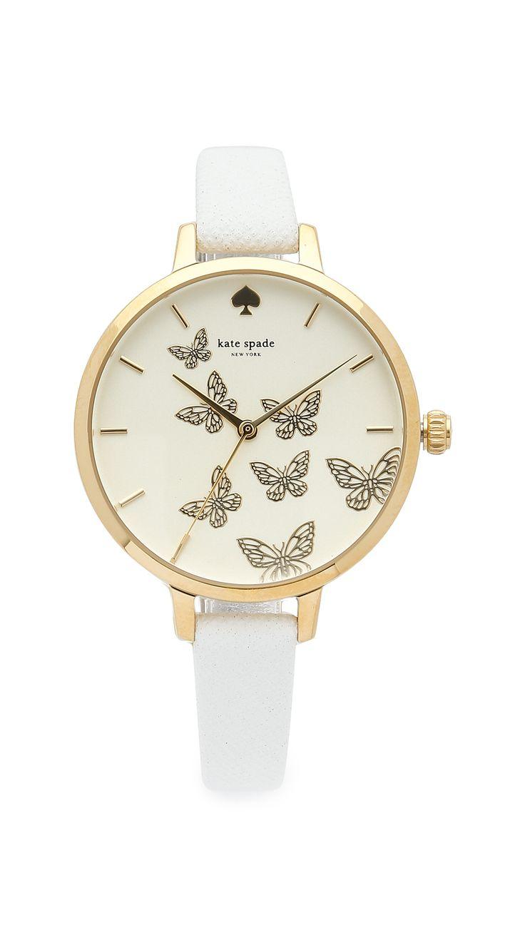 Kate Spade New York Metro Butterflies Watch http://www.modandretro.com/kate-spade-new-york-metro-butterflies-watch/