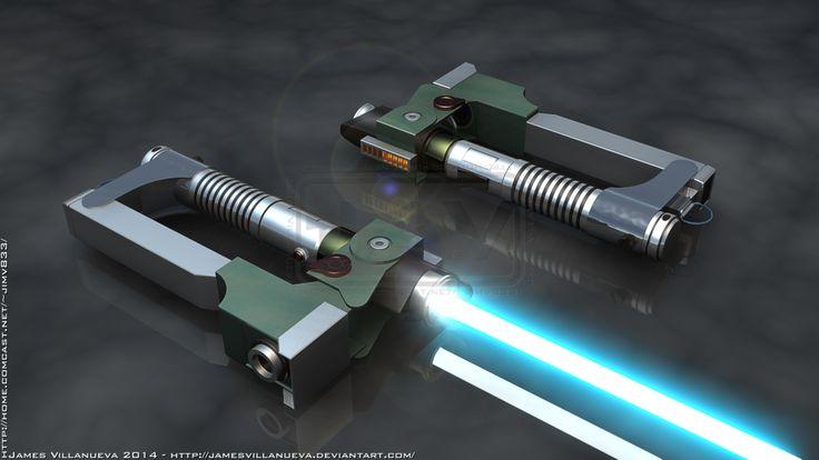 Ezra Bridger's Lightsaber 1 of 2 - SW Rebels by JamesVillanueva on @DeviantArt
