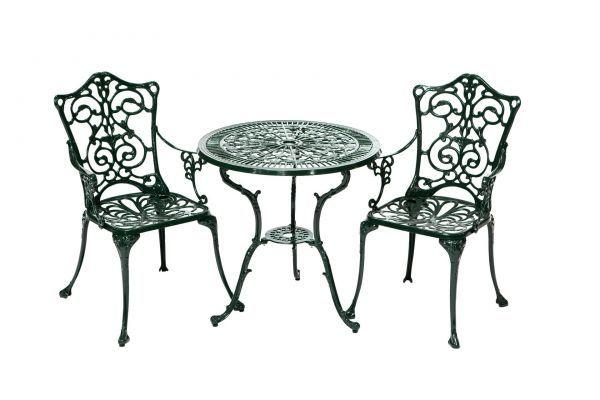 Set Bestehend Aus Lugano Sessel Grun Mit Filigranen Ornamenten