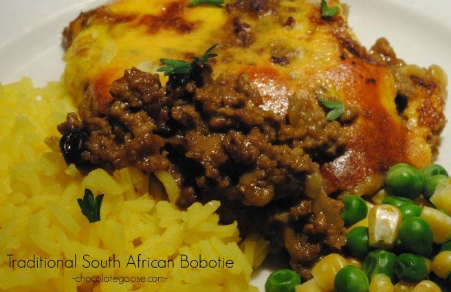 Traditional South African Bobotie