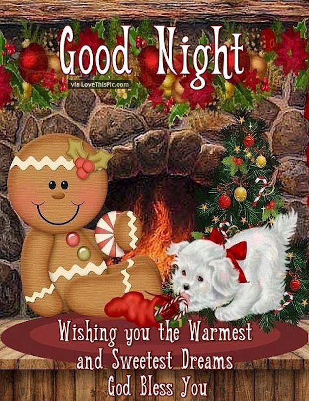 Goodnight Wishing You The Warmest Sweetest Dreams Goodnight Christmas Eve Good Night Goodnight Quotes Go Good Night Greetings Good Night Wishes Cute Good Night