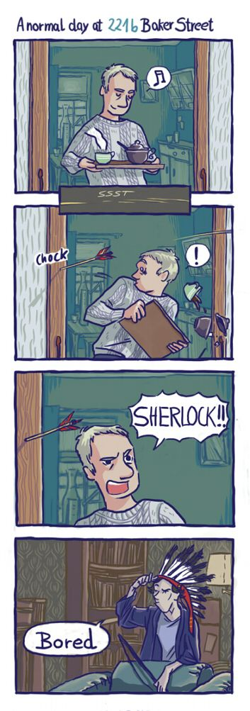 A normal day in the Sherlock household