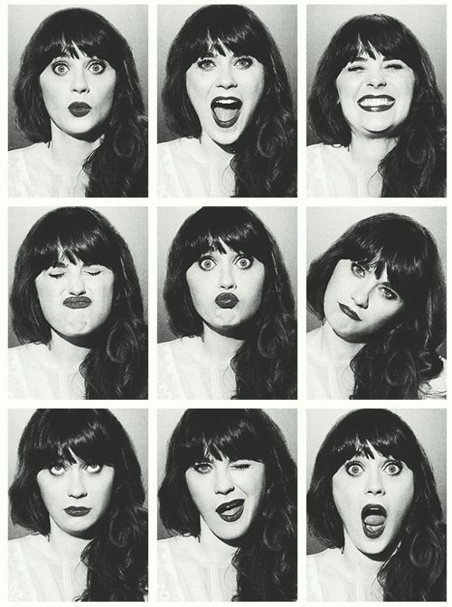 The many faces of Zooey. All adorable.