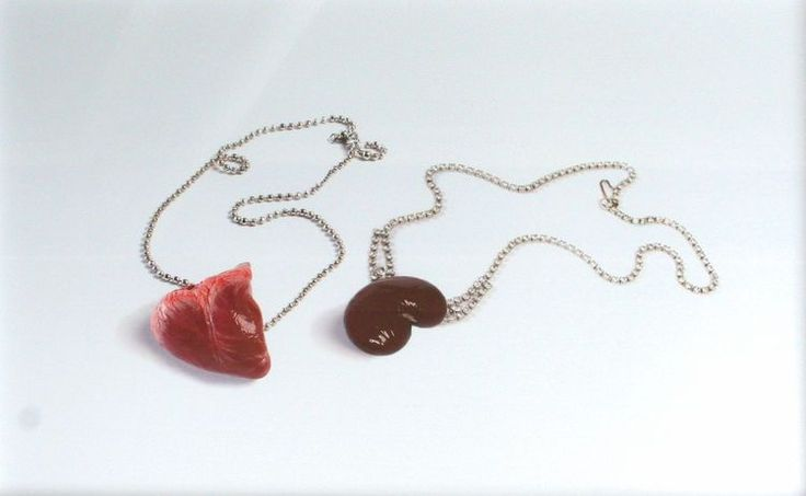 Heart chain and Kidney necklace. Medium: C type photography (limited edition of 5) 500 x 720mm (framed). 2009